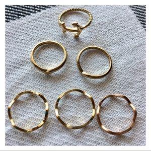 Set of Six Midi Nautical Rings